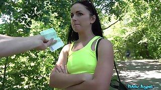 Aroused teenager fucks respecting stranger at the last moment cash